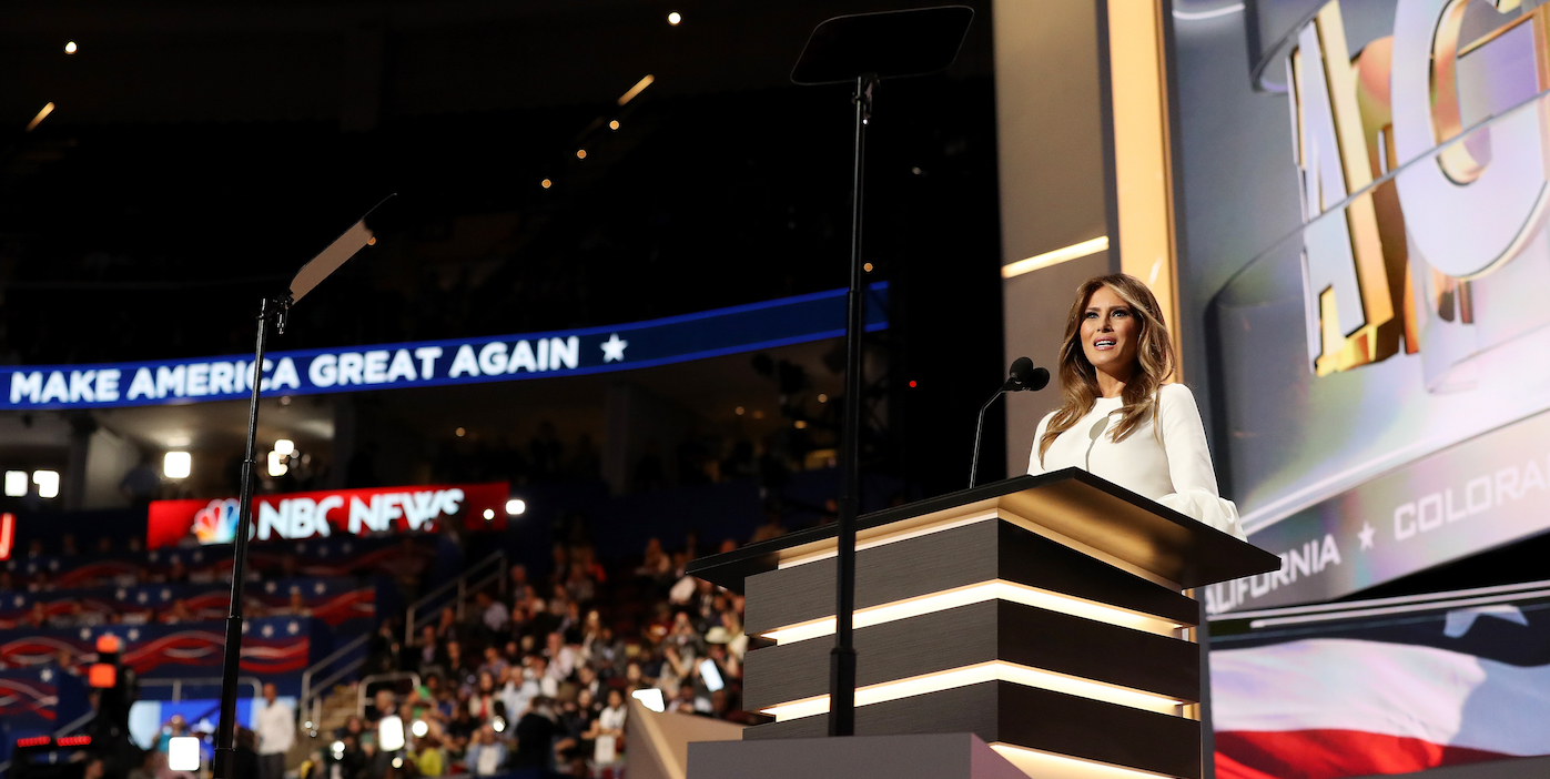 melania trump remarks on her values plagiarized from michelle obama