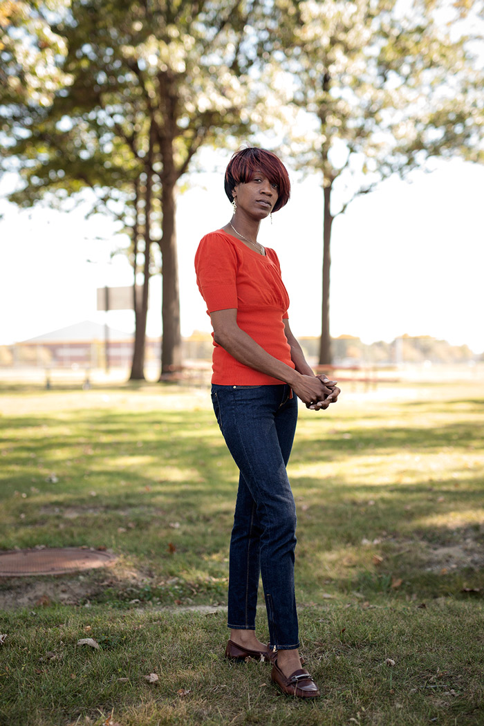 Dearborn, MI - Sept. 23, 2015: Clara Hill pauses for a portrait at a local park on Wednesday, Sept. 23, 2015 in Dearborn, MI. Tim Galloway for The Intercept