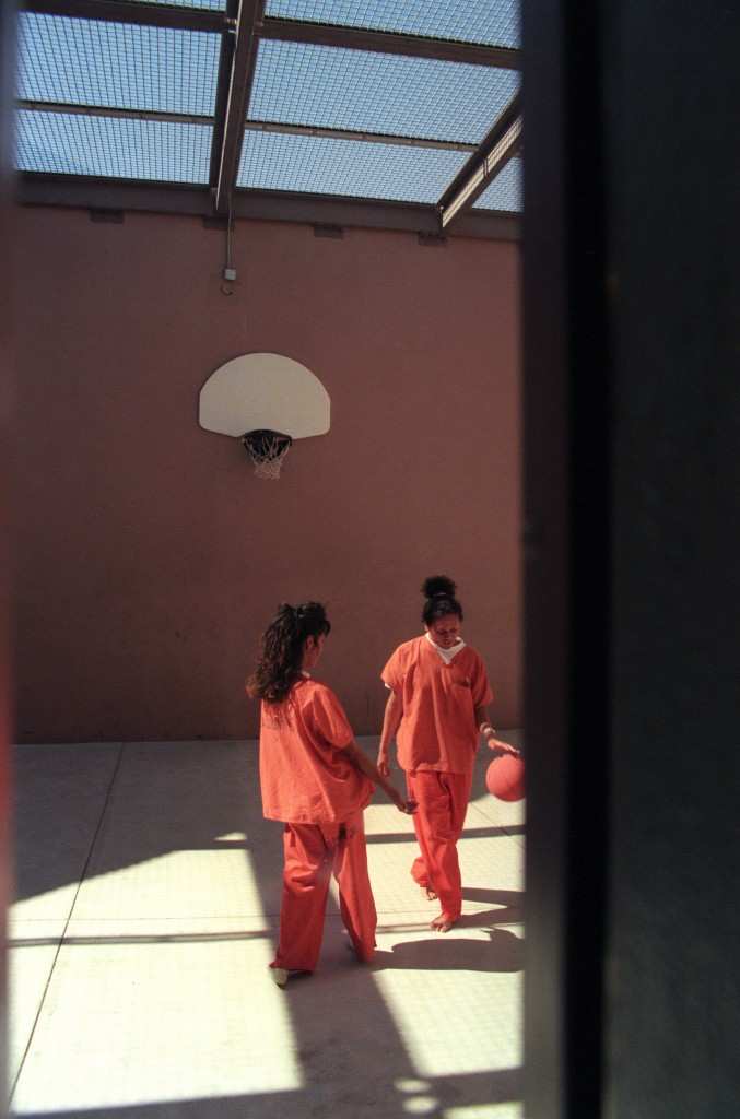 Two transgender prisoners are allowed exercise time separated from the main prisoner population. The Men's Central Jail near downtown Los Angeles continues to be plagued by overcrowding and unsanitary conditions, along with inmate-on-inmate assaults and the use of excessive force by sheriff's deputies, according to a report by the American Civil Liberties Union, released in May, 2010.  (Photo by Axel Koester/Corbis via Getty Images)