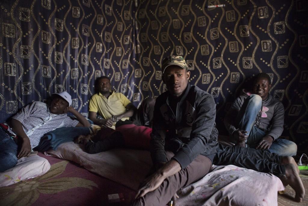Young men at a fada in Agadez, Niger, January 16, 2018.