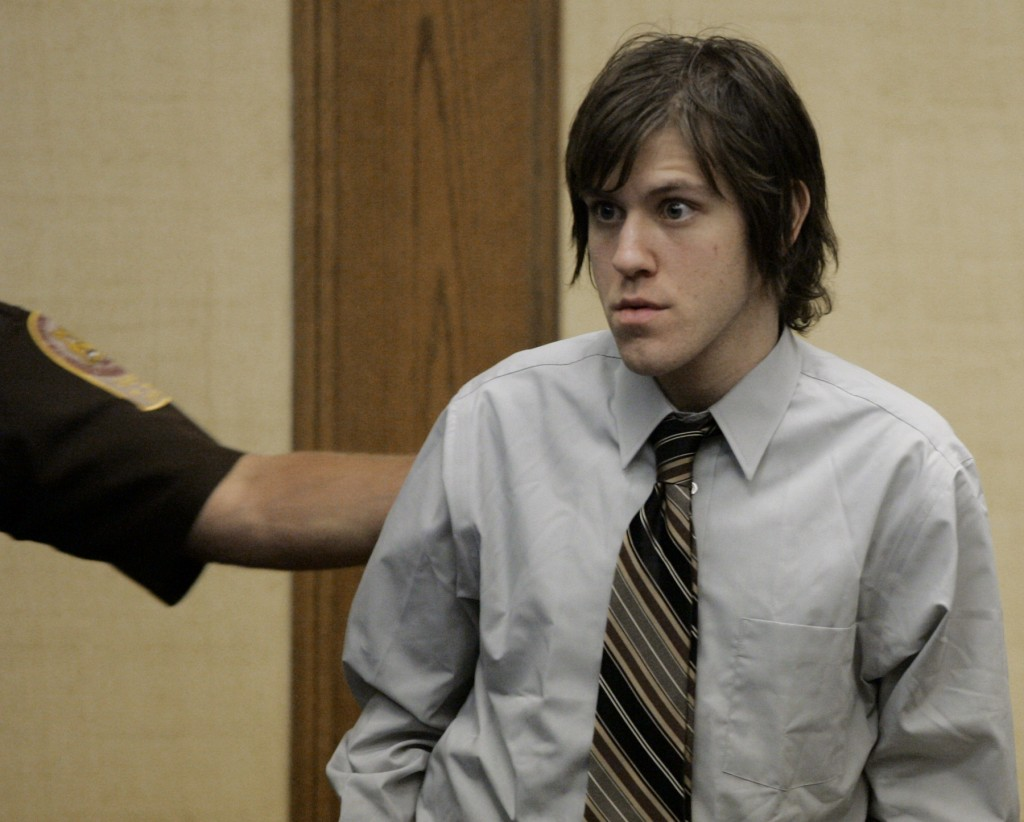 Capitol murder defendant William Morva is escorted from the courtroom as a break was called for lunch in Montgomery County Circuit Court in Christiansburg, Va,. Wednesday, Sept. 19 2007. Morva is charged with the August 2006 killings of a sheriff?s deputy and a hospital security guard. (AP Photo/Matt Gentry, Pool)