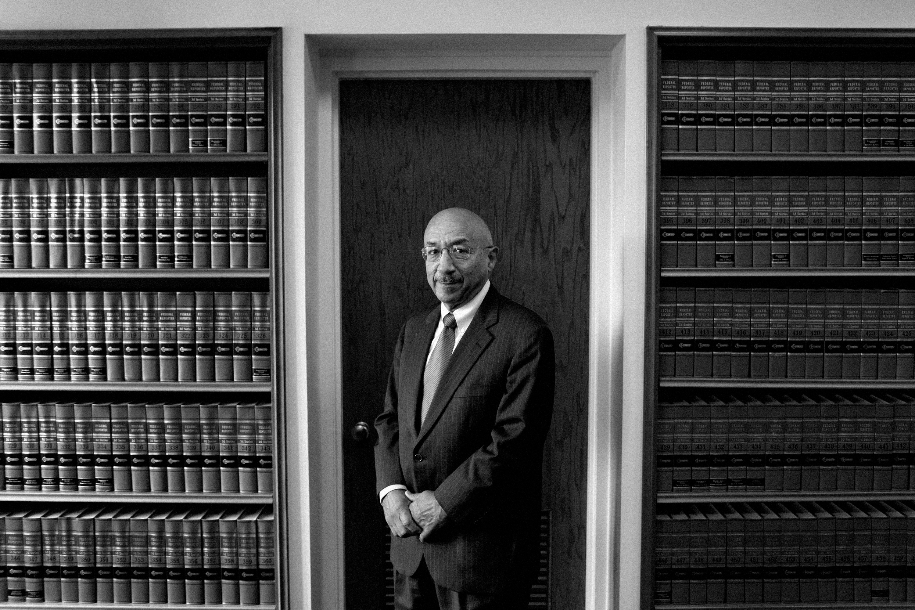 Harry Edwards, a senior judge of the Court of Appeals for the District of Columbia, at the U.S. Court of Appeals Courthouse in Washington, Sept. 17, 2012. As the financial industry confronts a wave of new government regulations, it has sympathetic ears in a key federal appeals court. (Luke Sharrett/The New York Times)