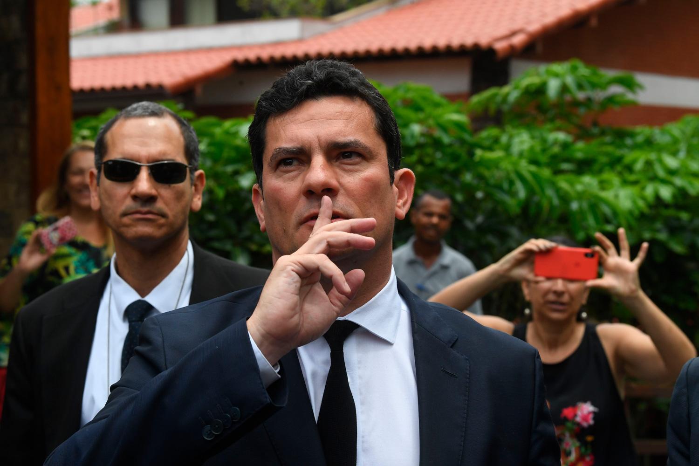 Sergio Moro encontra Jair Bolsonaro no dia 1º de novembro de 2018 na casa do recém-eleito presidente, no Rio de Janeiro.