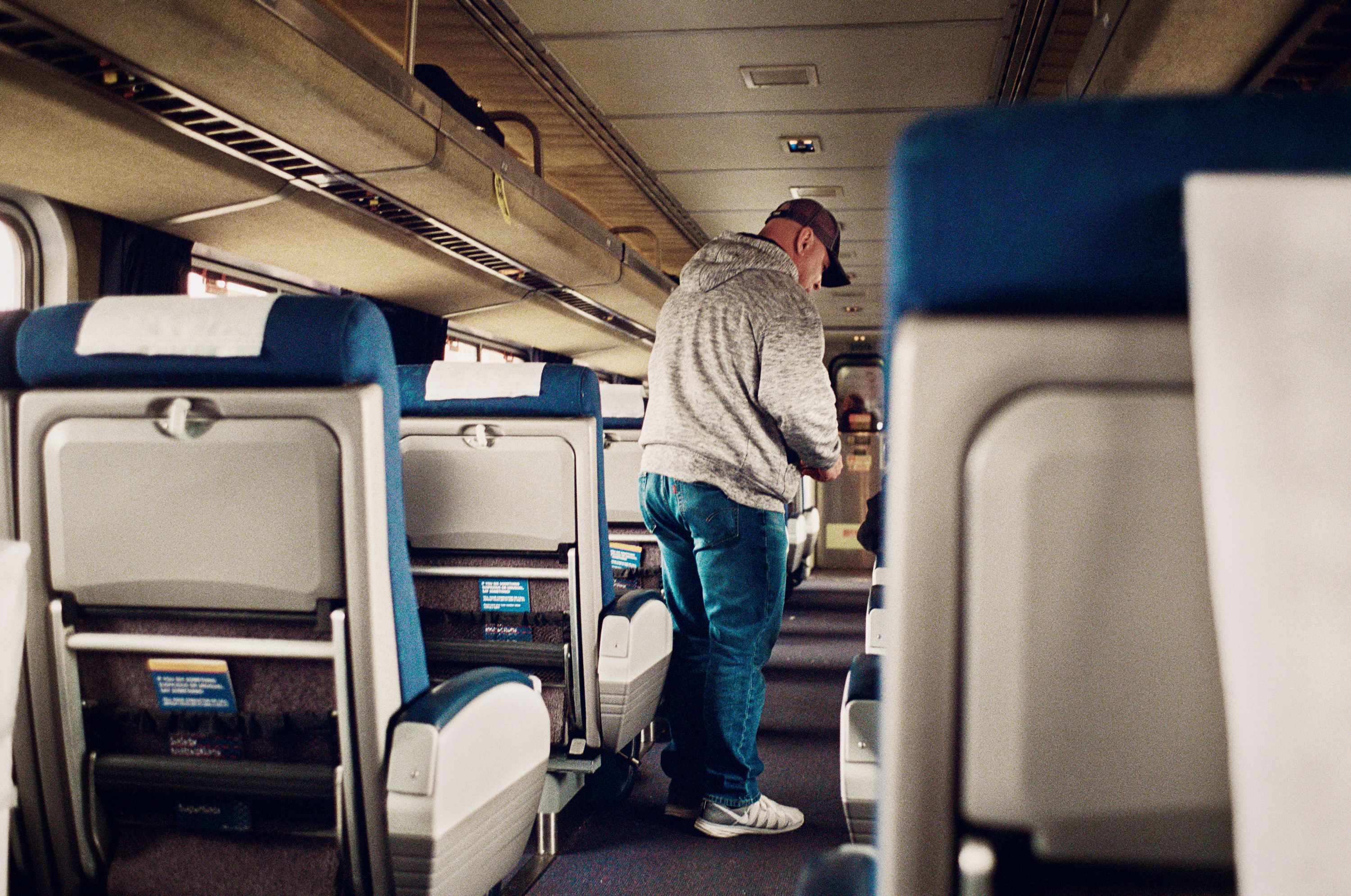 DEA Agent Perry boards the Southwest Chief in ABQ to question Passengers and search luggage.