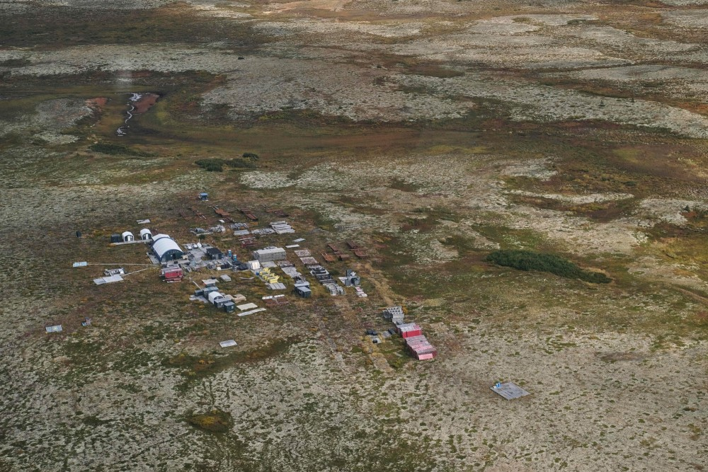 The Pebble Partnership exploration camp pictured on September 4, 2019, marks the site of the proposed Pebble Mine at the headwaters of Bristol Bay in southwest Alaska, home to the world's largest sockeye salmon run. According to Canadian owners Northern Dynasty Minerals, the deposit area contains 80.6 billion pounds of copper, 107.4 million ounces of gold and 5.6 billion pounds of molybdenum with an estimated value of $400 billion. (Photo by Alex Milan Tracy/Sipa USA)(Sipa via AP Images)