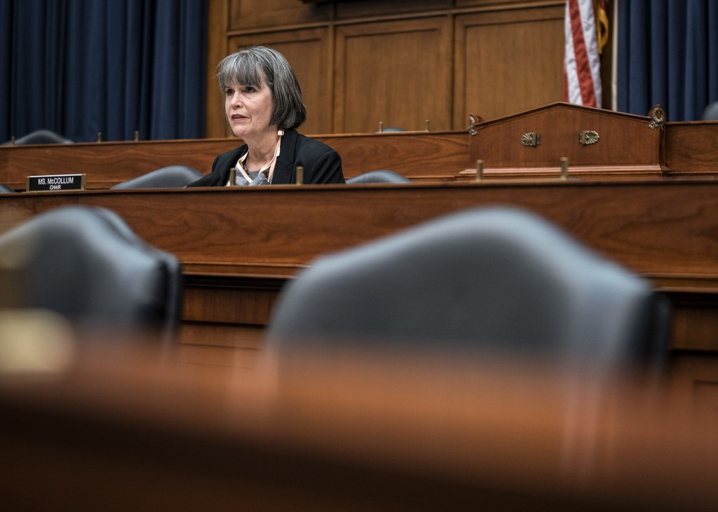 Chairwoman Rep. Betty McCollum (D-MN) questions witnesses on the Indian Health Service response to the Covid-19 pandemic during a House Committee on Appropriations Subcommittee on Interior, Environment, and Related Agencies hearing on June 11, 2020 in Washington, DC. (Photo by Sarah Silbiger/Getty Images)