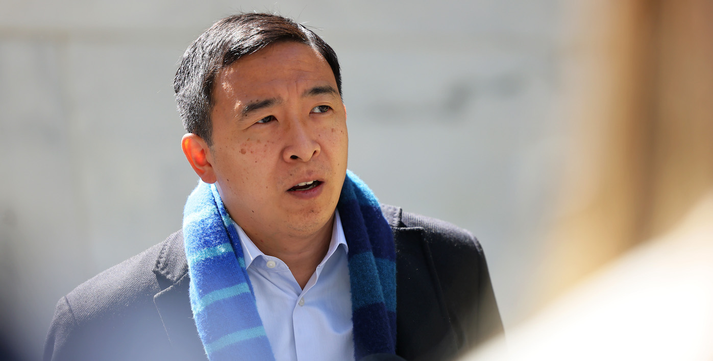 Andrew Yang Can't Explain When Asked Why He Supports Israel Bombing Gaza